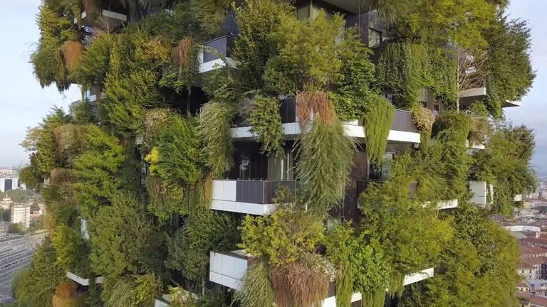 Deze woontoren in Milaan diende als voorbeeld voor de toren in Eindhoven (foto: Stefano Boeri Architetti).