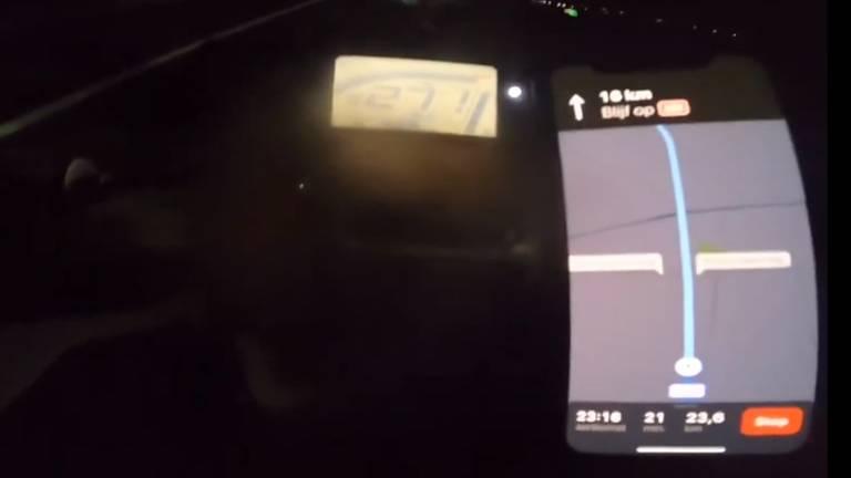 Een beeld uit de nachtelijke opnames.