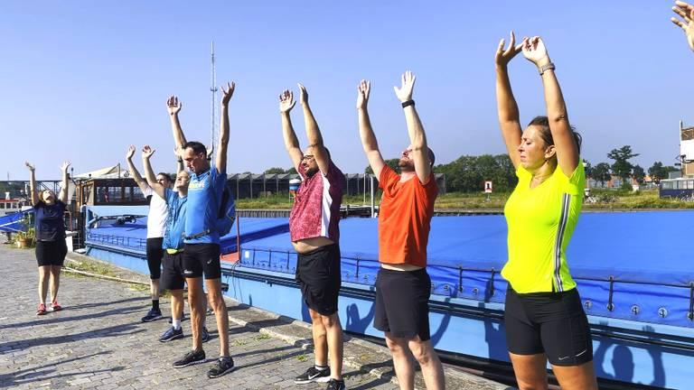 Deelnemers aan de Runningdate.