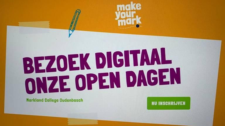 Ouders en leerlingen kunnen de open dag via de computer volgen.