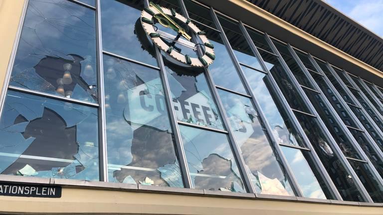 Het Coffeelab in Eindhoven werd zwaar getroffen (foto: Rogier van Son).