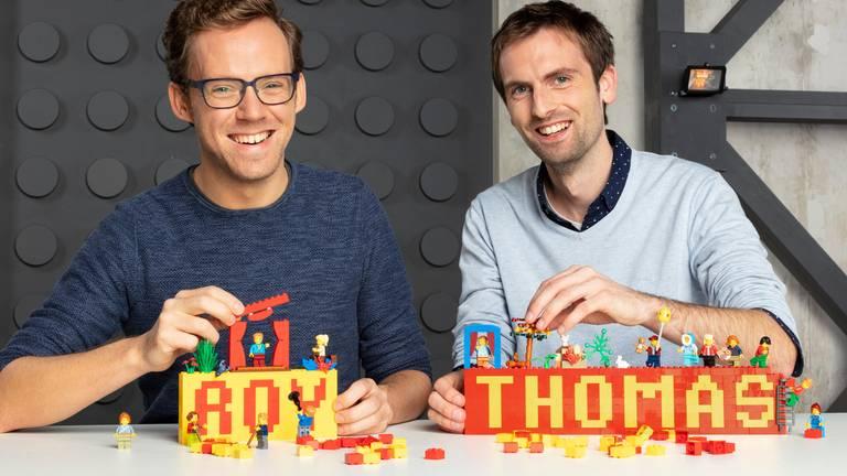 Roy uit Bergen op Zoom en Thomas (foto: RTL).