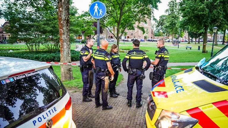 De steekpartij aan het Park in Nuenen vond rond halftien plaats (foto: Sem van Rijssel/SQ Vision).