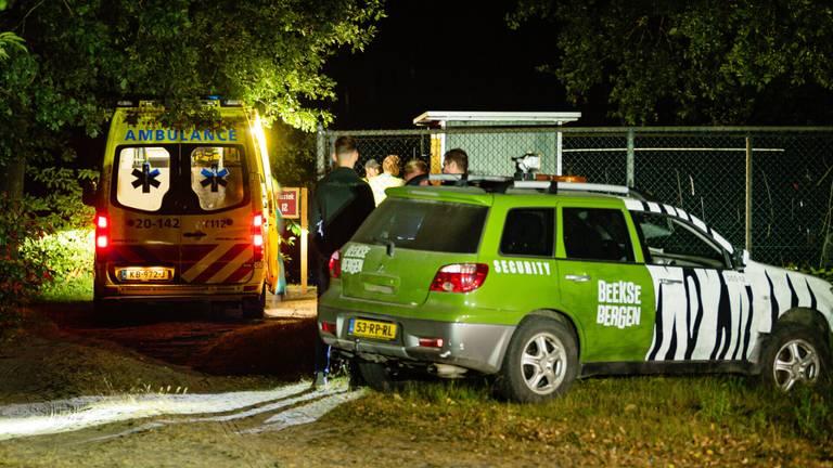 Commotie bij het terrein vlakbij de Beekse Bergen (foto: Jack Brekelmans/SQ Vision)