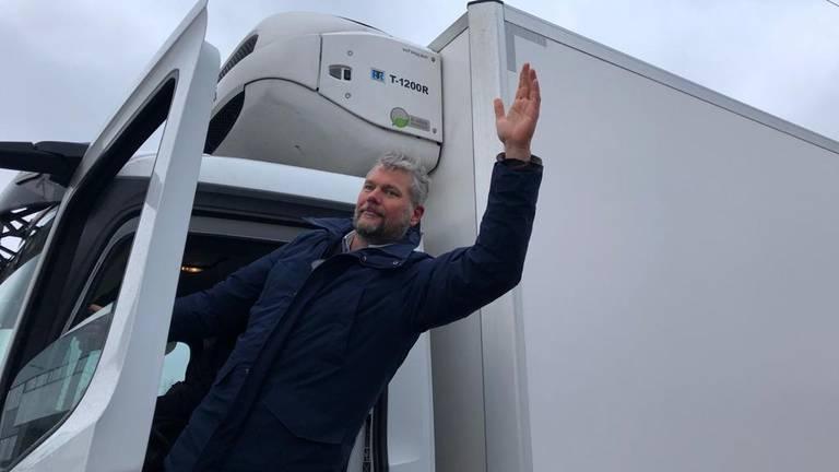 Michael Blok van het Platform Containment Nu! (foto: René van Hoof).