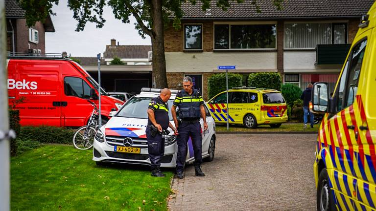 Meerdere hulpdiensten werden opgeroepen na het ongeluk aan de Dennenlaan in Nuenen (foto: Sem van Rijssel/SQ Vision).