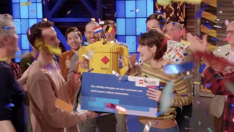 Jan en Lola winnen LEGO Masters (videostill RTL4)