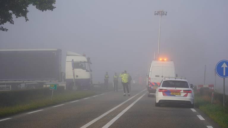 De mist speelde mogelijk een rol (foto: Jeroen Stuve).