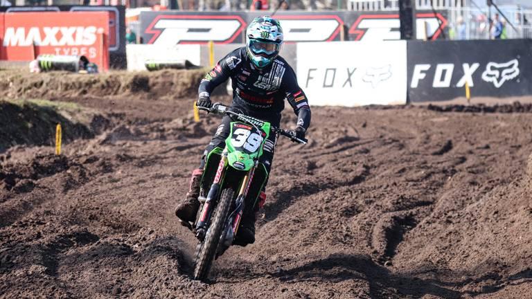 Roan van de Moosdijk in actie op het circuit in Valkenswaard (foto: Corrado Francke).