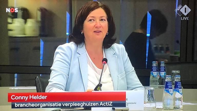 Conny Helder van het Regionaal Overleg Niet Acute Zorg in onze provincie.