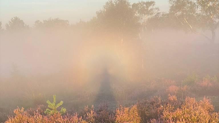 Frans Kapteijns werd gevangen in een regenboog-halo (privéfoto)