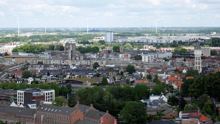 Het uitzicht op het centrum van Roosendaal (foto: Erik Peeters).