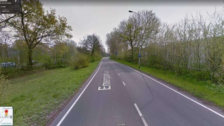 De jongen belandde in de greppel (foto: Google Streetview).