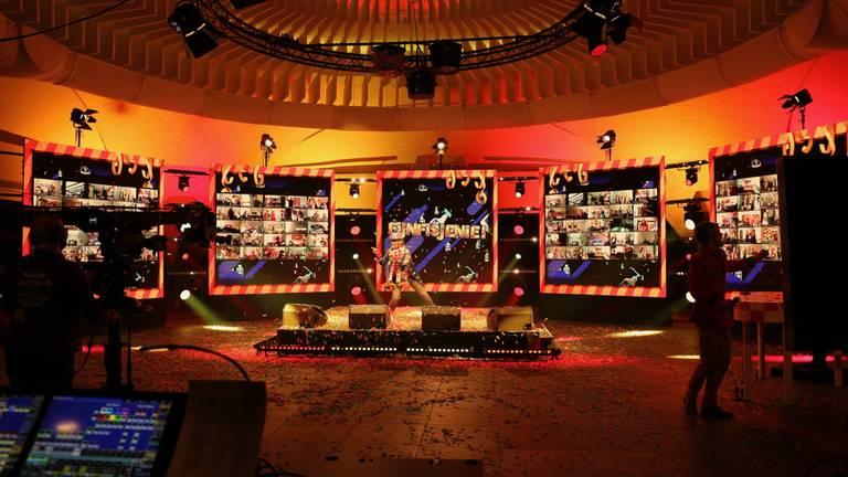 Een speciaal Drie Uurkes Vurraf-podium