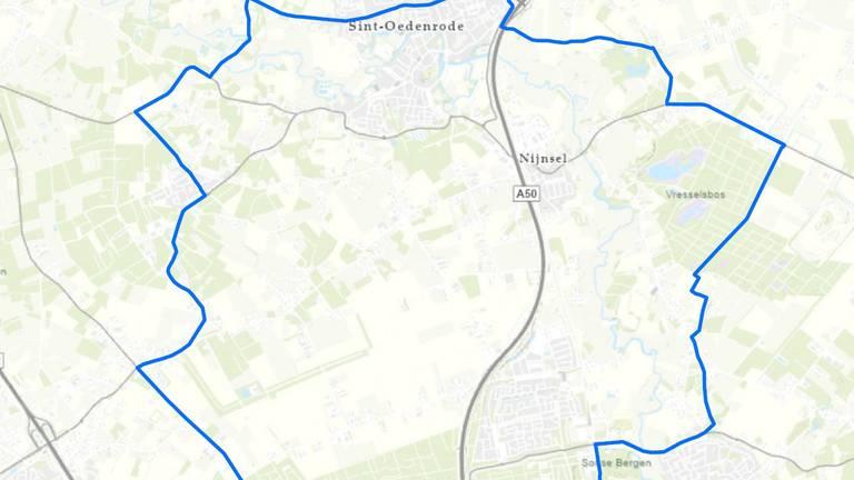 In een straal van drie kilometer rond het besmette bedrijf in Sint-Oedenrode worden pluimveebedrijven onderzocht op vogelgriep (afbeelding: Rijksoverheid).
