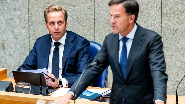 Hugo de Jonge en Mark Rutte (foto: ANP)