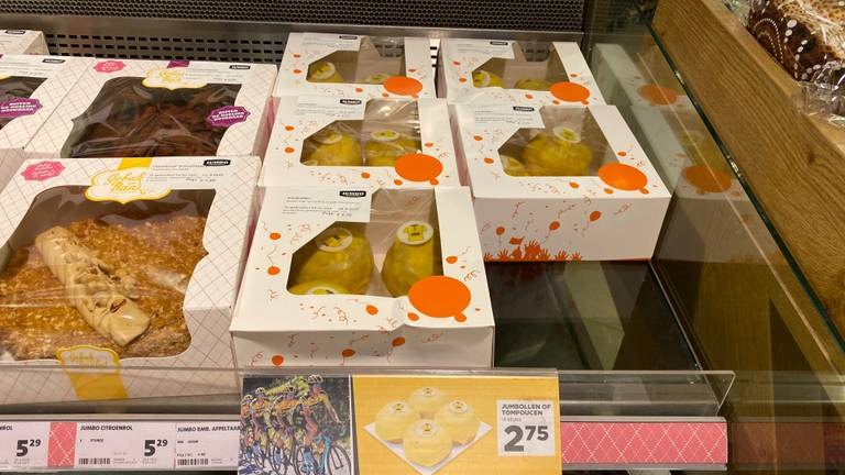 Er is nog volop speciaal 'Tour de France-gebak' te verkrijgen bij Jumbo.