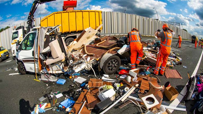 Het ongeluk op de A2. Foto: SQ Vision.