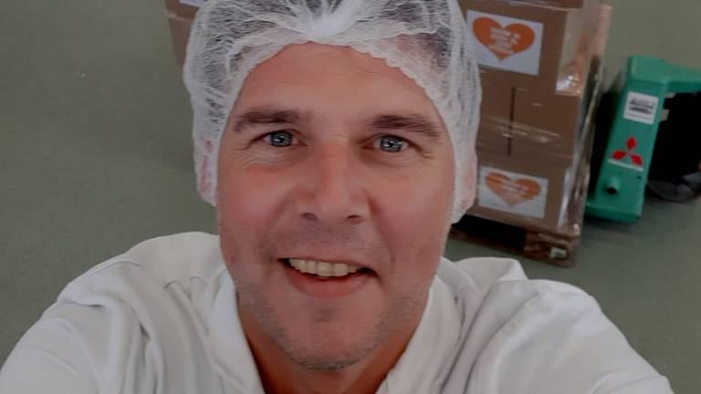 John van Heel bij zijn eerste lading Heel Veel Soeps (foto: John van Heel).
