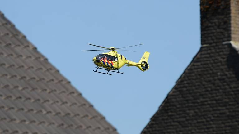 De traumahelikopter die was ingeschakeld (foto: Nick van Hees).