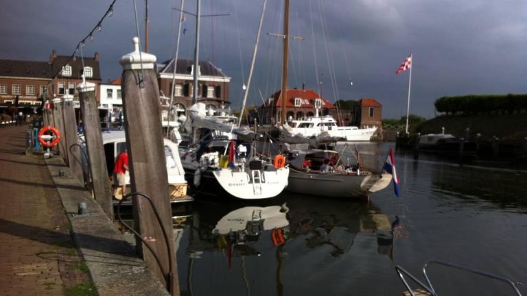 De jachthaven in Willemstad.