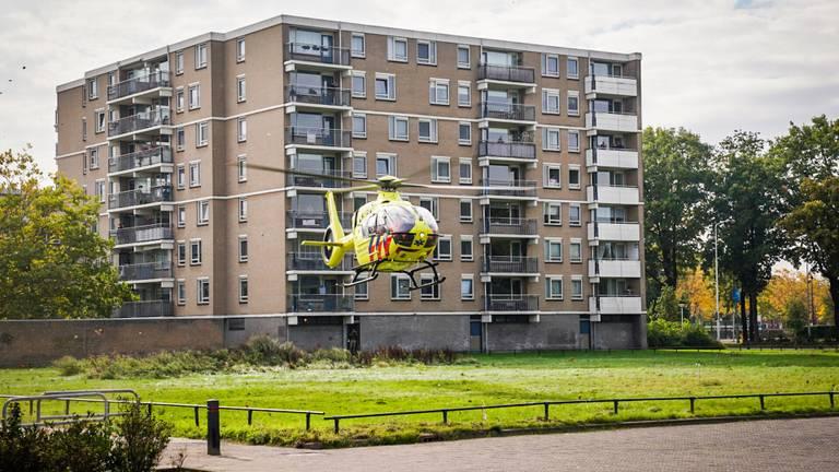 Er landde een traumahelikopter (Foto: Sem van Rijssel/SQ Vision).