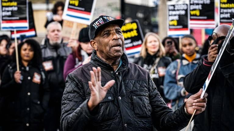 Een Kick Out Zwarte Piet-protest in Eindhoven (foto: Rob Engelaar).