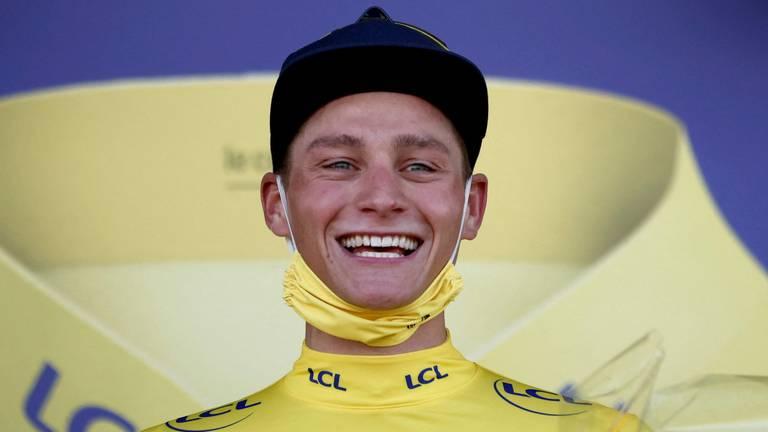 Mathieu van der Poel in de gele trui