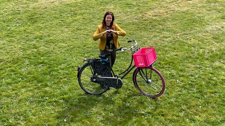 Mariska organiseert een fietsrave (foto: Mariska Corbeel).