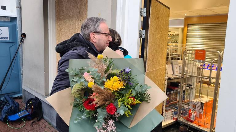 Maaike kreeg ook veel bloemen.