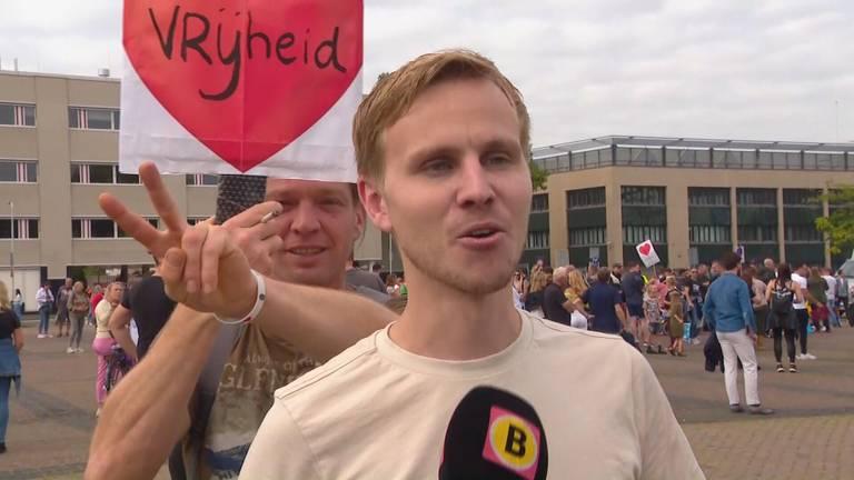 Joost Eras organiseerde de demonstratie.