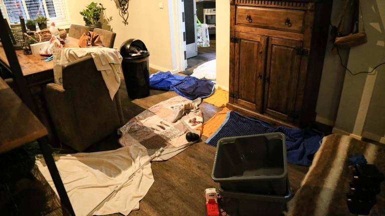 Het noodweer zorgde ook in verschillende huizen voor problemen (foto: Harrie Grijseels/SQ Vision).