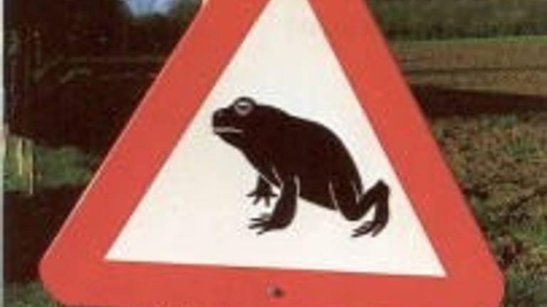 Waarschuwing voor de amfibieëntrek.