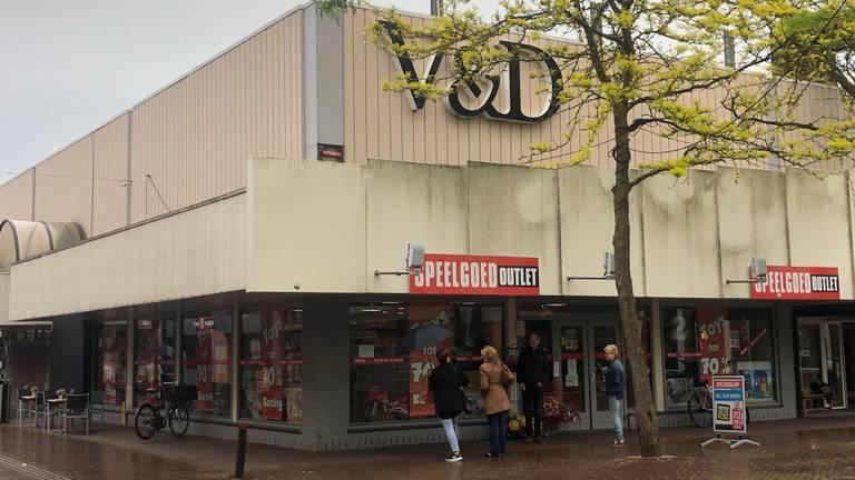Het oude V&D-gebouw in Oss. (archieffoto).