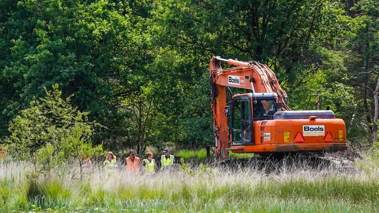 Eerdere zoekactie Tanja Groen bij op de Strabrechtse Heide (archieffoto: SQ Vision Mediaprodukties).