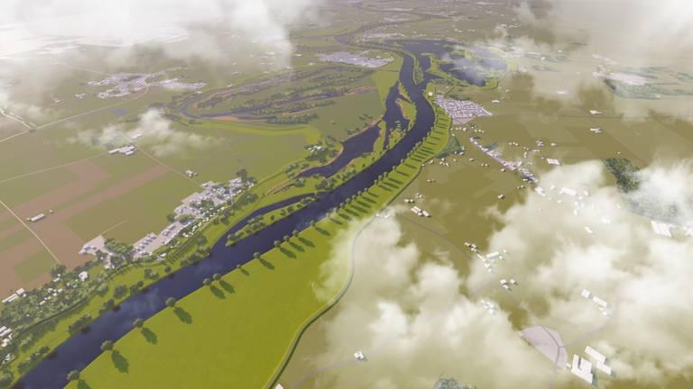 De meanderende Maas (foto: waterschap Aa en Maas).