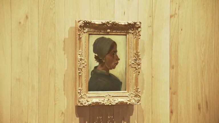 Kop van een Vrouw van Vincent van Gogh werd woensdag onthuld in het Noordbrabants Museum.