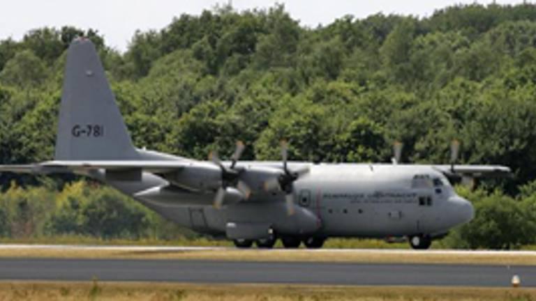 Hercules C-130 transportvliegtuig zal laag overvliegen deze week tijdens een oefening.   (Foto:archief)