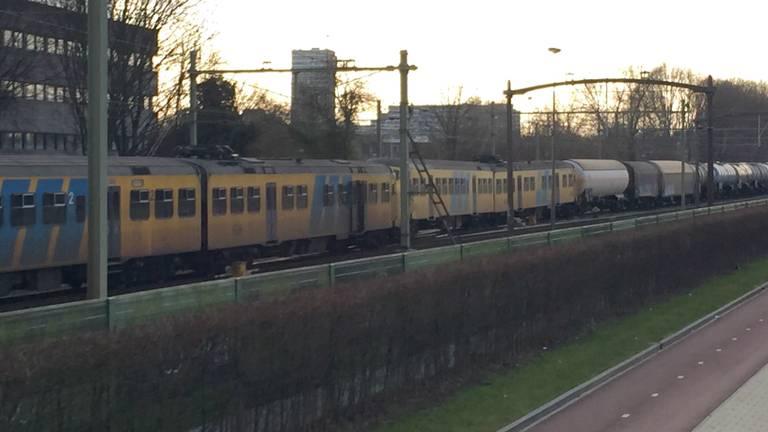 Botsing tussen twee treinen in Tilburg (Foto: Toby de Kort).