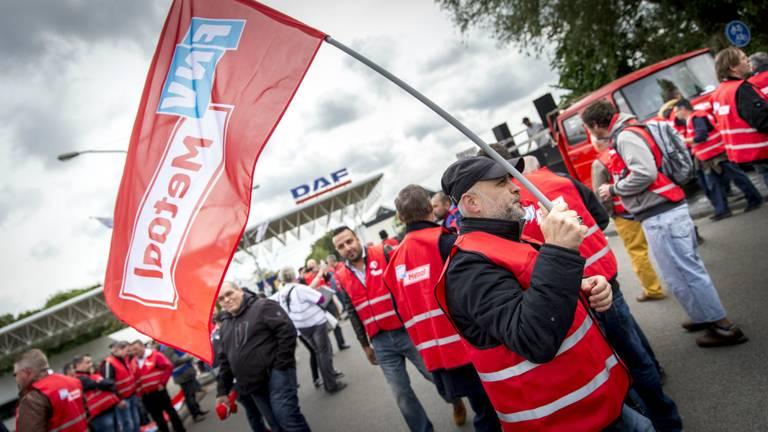 24-uursstaking bij DAF Trucks in Eindhoven (foto: ANP)
