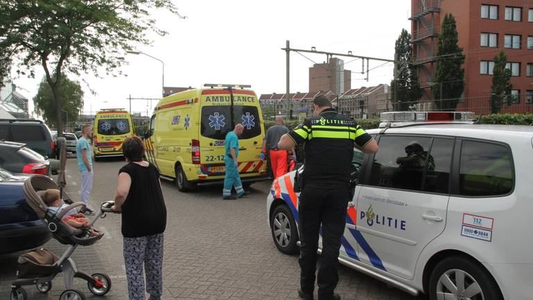 Tijdens het barbecuen raakten drie mensen gewond (foto: Harrie Grijseels/SQVision).