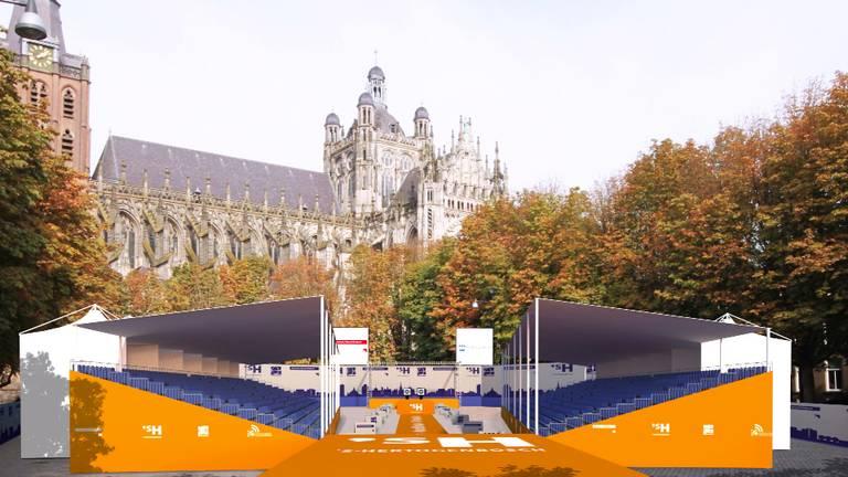 Zo moet het stadion op de Parade eruit gaan zien.