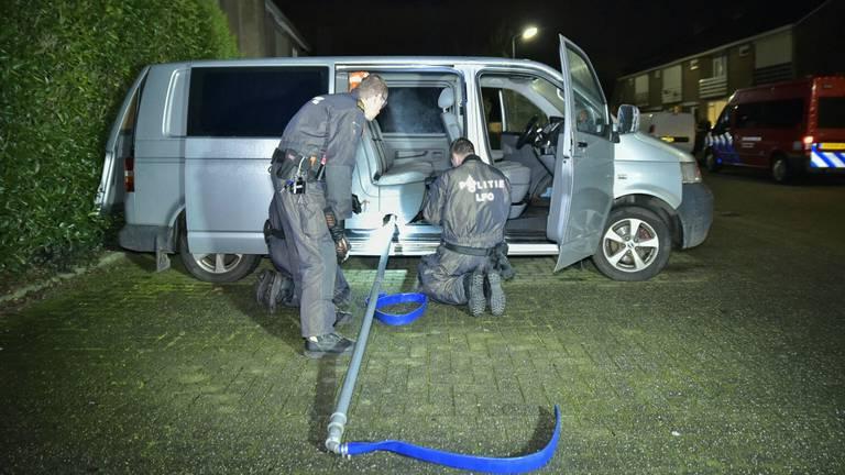 Met dit systeem kan drugsafval al rijdend gedumpt worden (foto: Jack Brekelmans / Persburo BMS).