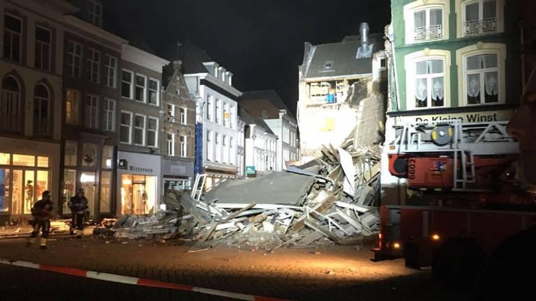 Ingestort gebouw van dichtbij Ravage in Den Bosch (foto: Jan van Onzenoort)