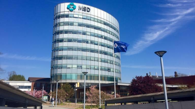 De letters MSD hingen eerst op het gebouw (foto: archief).