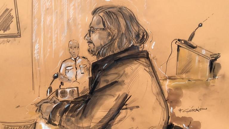 Aydin C. in de rechtbank in Amsterdam. (Archieffoto)