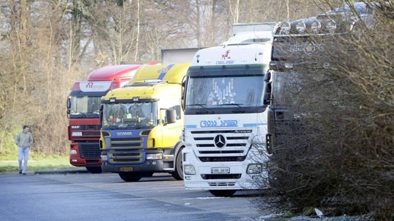Vrachtwagens. Archieffoto