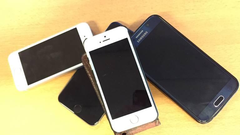 Telefoons gestolen en een aantal gelukkig terug bij eigenaar. (Archieffoto)