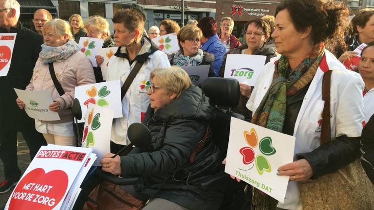Protest thuiszorg Roosendaal