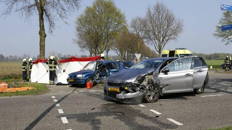 Dode bij ernstig ongeluk in Rijkevoort. (foto:SK-Media)